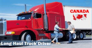 Long haul track drivers Canada Job
